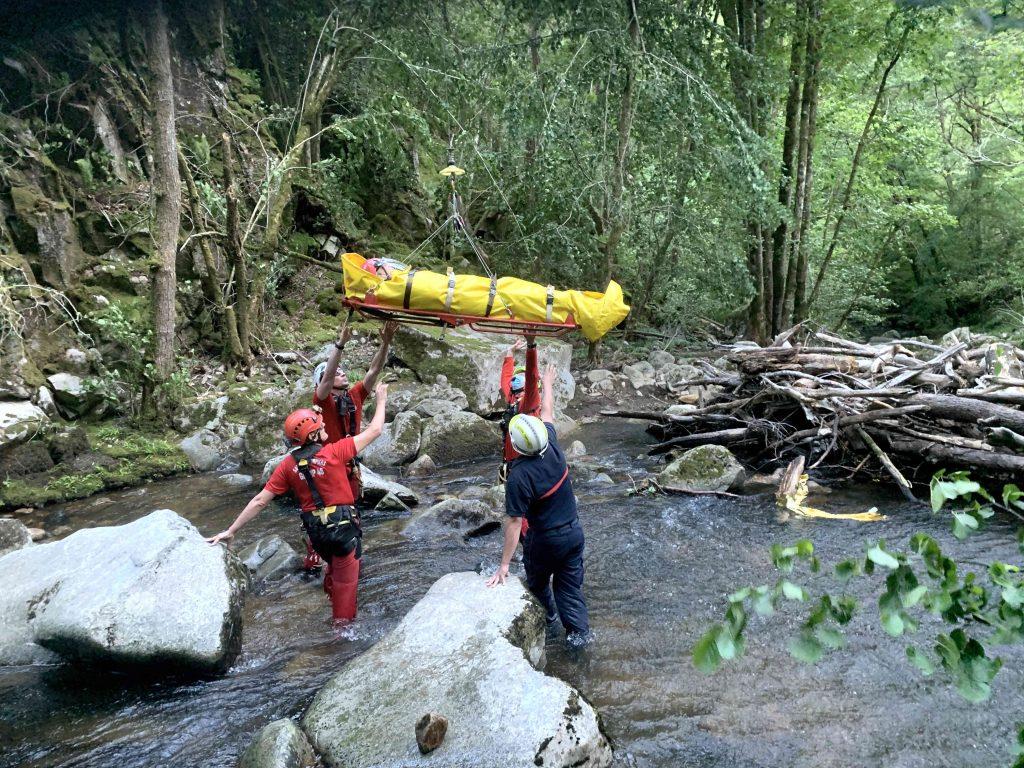 sauvetage pompiers lot randonneur © Gilles Mignot - Les Pompiers du Lot