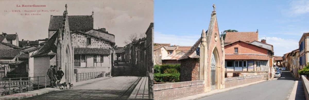 Rieux-Volvestre au début du XXe siècle et en 2020 : le conseil départemental de la Haute-Garonne met en ligne près de 1500 photos à comparer avec des cartes postales d'il y a 100 ans @Labouche frères/Voutzinnos