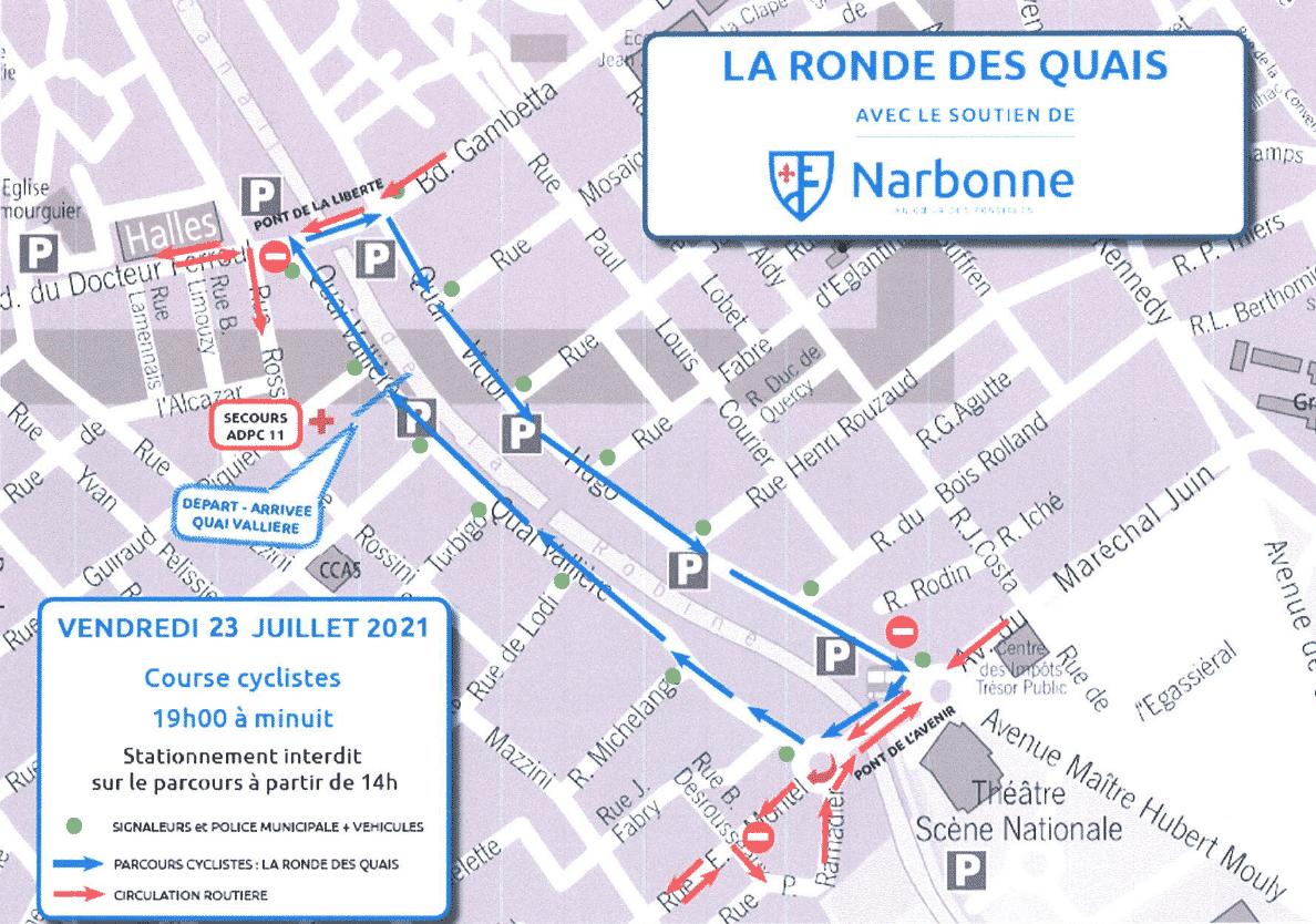 course cycliste Narbonne Ronde des quais