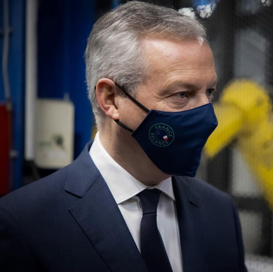 Sur le site d'Airbus, à Blagnac, près de Toulouse, le ministre de l'Économie Bruno Le Maire a affirmé que la filière aéronautique commence à redémarrer @gouv