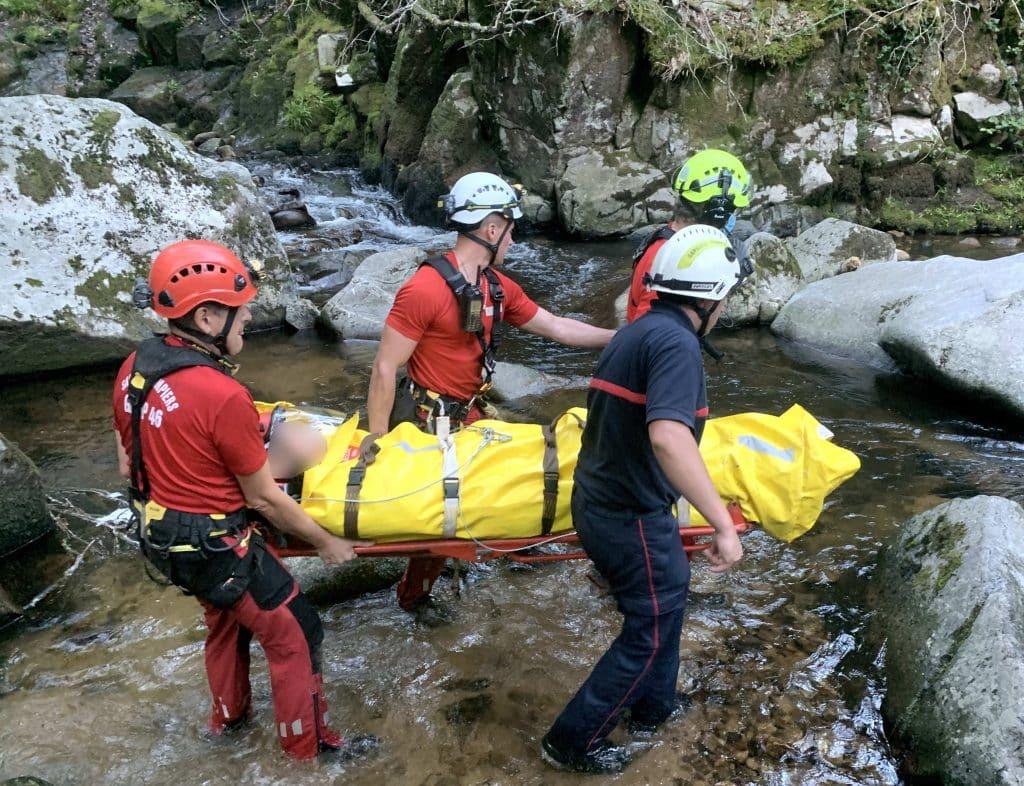 Voici comment les Sapeurs-Pompiers du Lot sont venus au secours d'un randonneur en difficulté, à Latouille-Lentillac, ce 5 juillet © Gilles Mignot - Les Pompiers du Lot