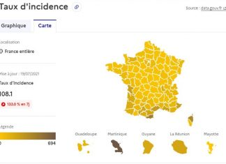 carte tx incidence covid france