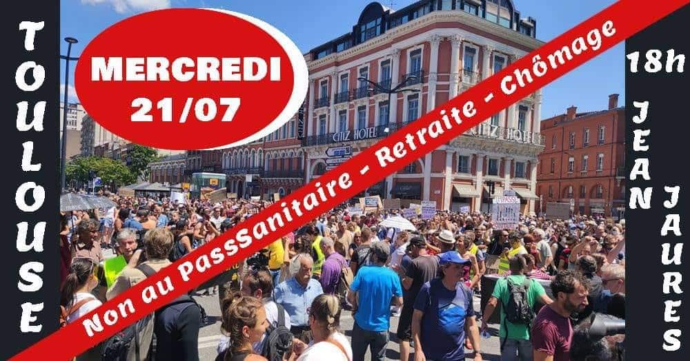 manifester pass sanitaire Toulouse