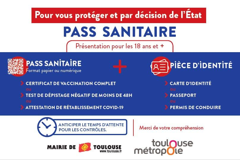 Toulouse pass sanitaire