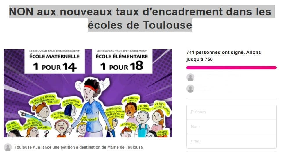 Toulouse animateurs en lutte écoles