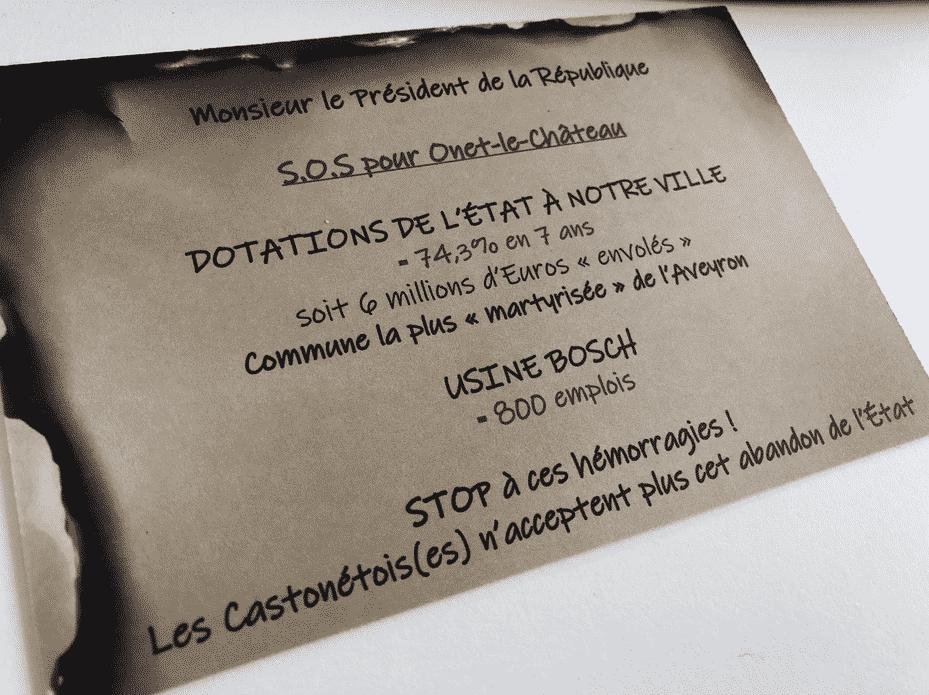 Onet-le-Château cartes postales Macron
