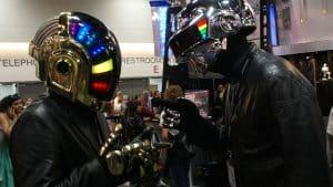 Daft Punk concert bougie