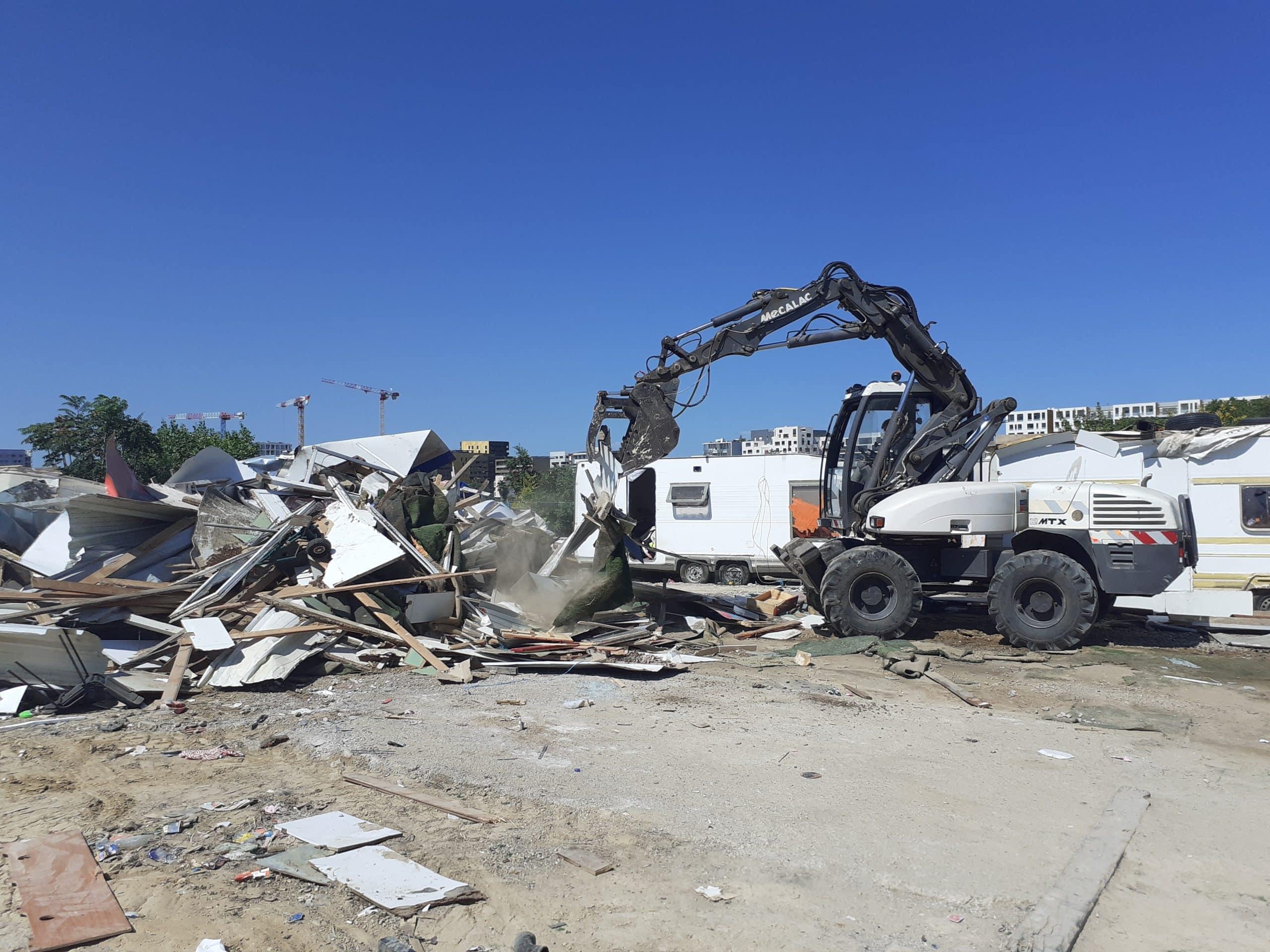 Montpellier évacuation bidonvilles