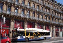 Toulouse bus Tisseo manifestation