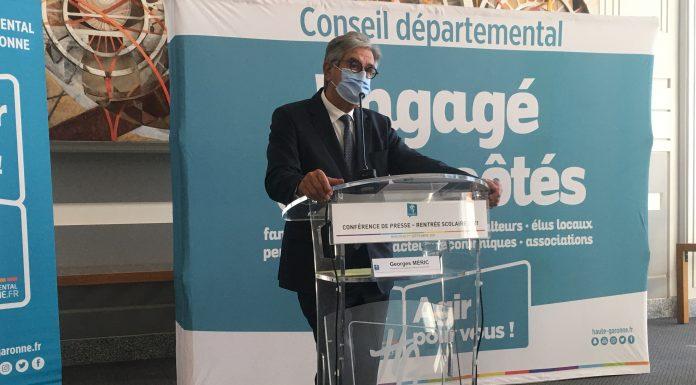 Georges Méric détaille les mesures prises par le Conseil départemental de Haute-Garonne pour limiter la transmission de la Covid-19 dans les collèges @PS-LeJournalToulousain