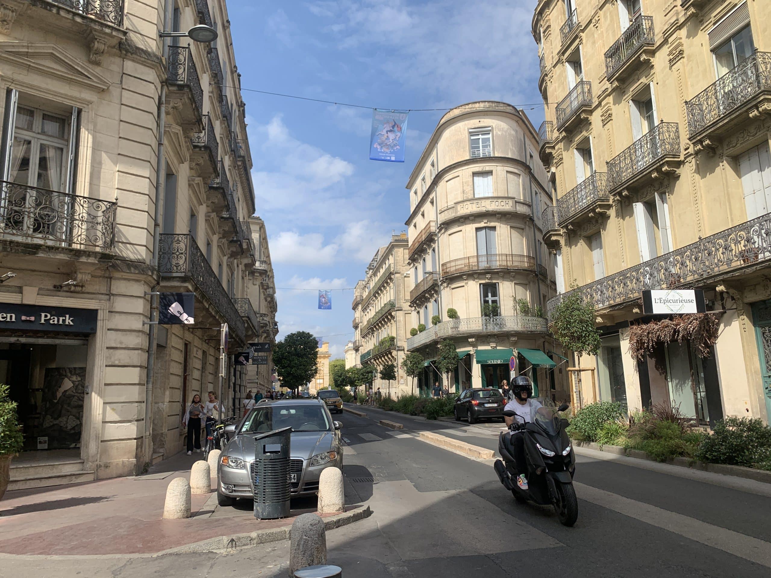 Montpellier rues locations biens Occitanie