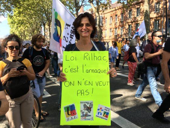 Les images de la manifestation des enseignants à Toulouse le 23 septembre 2021 @Philippe Salvador 6