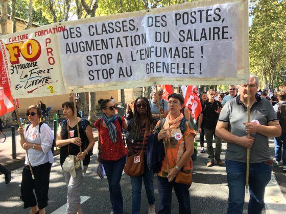 Les images de la manifestation des enseignants à Toulouse le 23 septembre 2021 @Philippe Salvador 1
