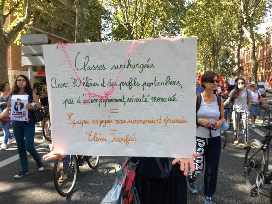 Les images de la manifestation des enseignants à Toulouse le 23 septembre 2021 @Philippe Salvador 3
