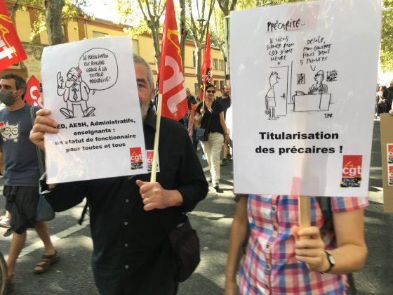 Les images de la manifestation des enseignants à Toulouse le 23 septembre 2021 @Philippe Salvador 12