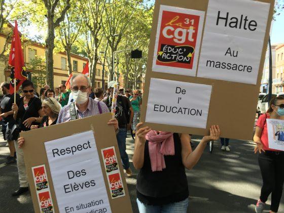 Les images de la manifestation des enseignants à Toulouse le 23 septembre 2021 @Philippe Salvador 11