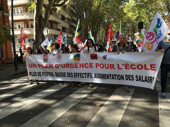 Les images de la manifestation des enseignants à Toulouse le 23 septembre 2021 @Philippe Salvador 9