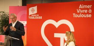 Lors de sa conférence de presse de rentrée, le maire de Toulouse Jean-Luc Moudenc a présenté la feuille de route politique qu'il compte suivre jusqu'à la fin de son mandat @Mairie de Toulouse