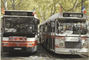 À l'occasion des Journées européennes du patrimoine, Tisséo propose un voyage dans le passé à bord de deux bus des années 70 et 80 qui circuleront dans la ville de Toulouse. - crédit Edouard Janssen, ASPTUIT