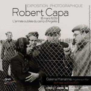 Le Mémorial du camp d'Argelès-sur-Mer accueille une exposition photographique de Robert Capa sur l'armée oubliée du camp d'Argelès, dans les Pyrénées-Orientales, jusqu'au 15 septembre. / Crédit : Ville d'Argelès-sur-Mer - Pôle culturel